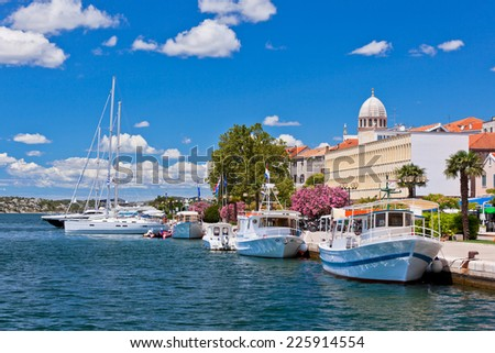 Sibenik is a historic town and harbour on the Adriatic coast in Croatia - stock photo