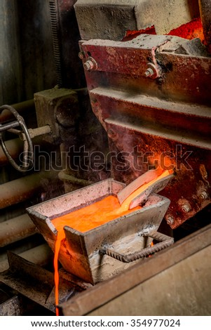 Siberia, Russia - August 13, 2014: moulting gold - stock photo