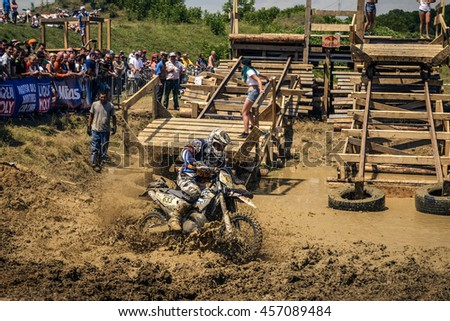 SIBIU, ROMANIA, JULY 16th 2016: Wide view at Red Bull ROMANIACS Hard Enduro Rally the hardest enduro rally in the world. July 12-16, 2016