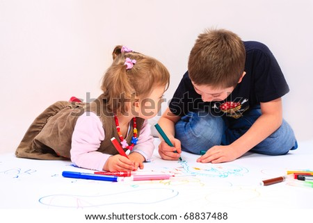 Siblings drawing