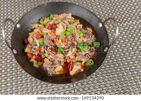 Sichuan dishes - stock photo