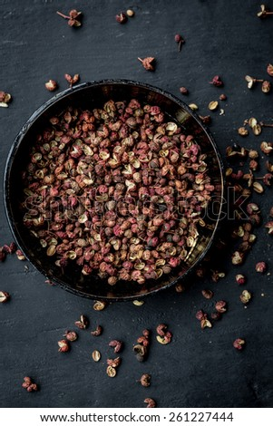 Sichuan peppercorn - stock photo