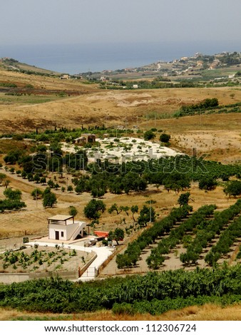 Sicilian Countryside - stock photo