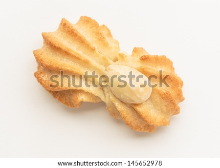 Sicilian marzipan biscuits on white background