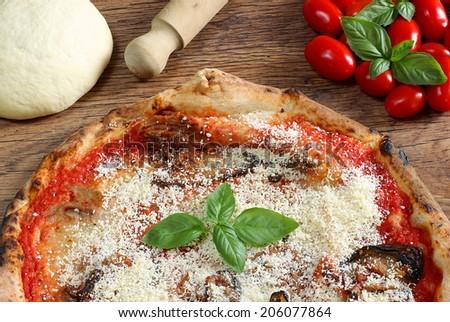 Sicilian pizza - stock photo
