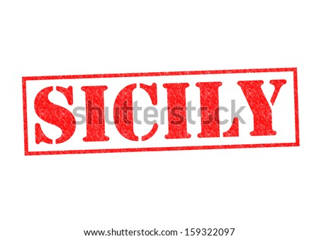 SICILY Rubber Stamp over a white background.