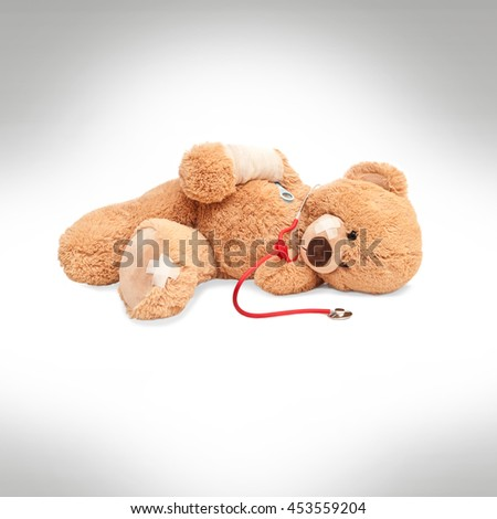 sick teddy bear