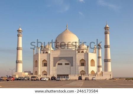 Siddiqa Fatima Zahra Mosque in Kuwait, Middle East - stock photo