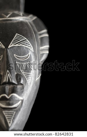 Side Crop View of Decorative South American Mask