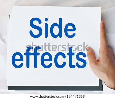 Side effects - stock photo