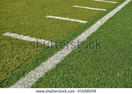 Side Line of a Football Field with hash marks