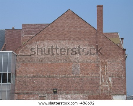 Side Of A Brick Building In New York City