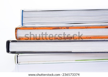 Side of book on white background