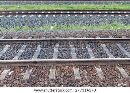 side of the railway - stock photo