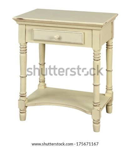 side table isolated on white background