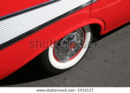 Side view of a '57 Chevy - stock photo