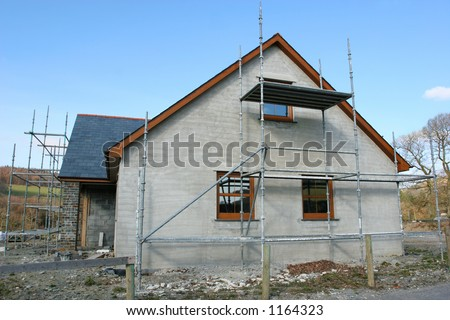 Building site cottage settlement stylization under stock for Building house with side views