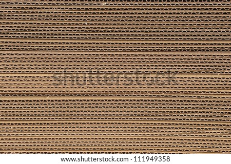 Side View Of A Stack Of Corrugated Board - stock photo