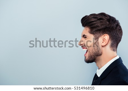 Scream Face Man Side Stock Images, Royalty-Free Images ...