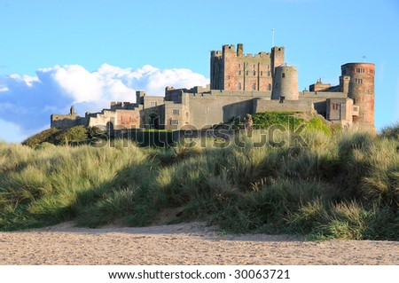 Side view of Bamburgh Castle