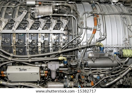 Side view of General Electric's J79 jet engine