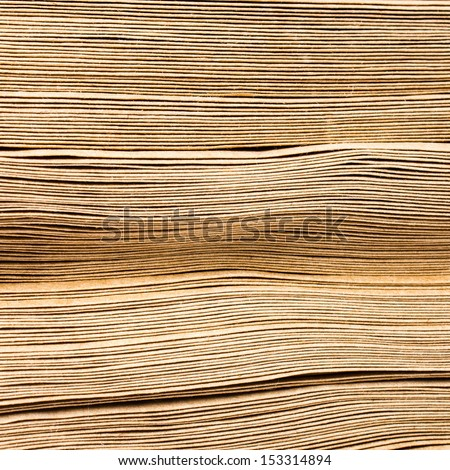 Side View Of Huge Stack of Recycled Paper close up. Business concept. - stock photo