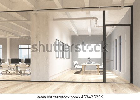 Side View Office Conference Room Interior Stock Illustration ...