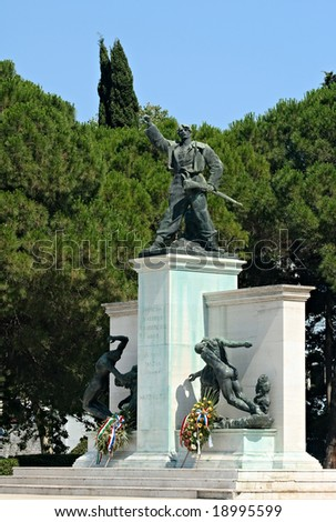 Side view on the Memorial of fighters against fascism in Pula