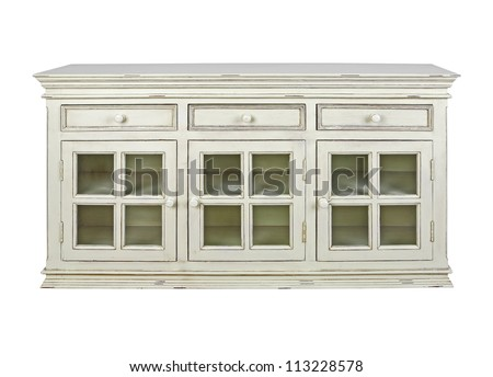 Sideboard isolated on white background - stock photo