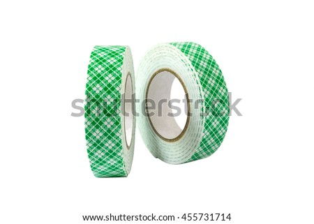Sided adhesive tape Isolated on white background