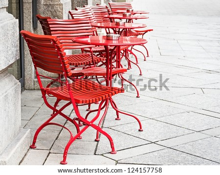 sidewalk cafe - table and chair