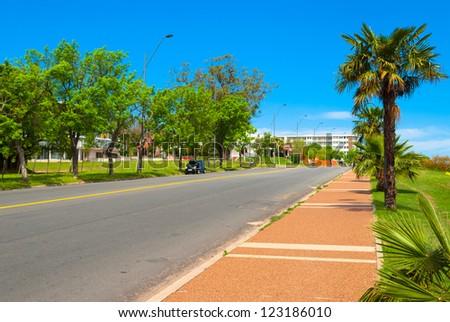 Sidewalk in Colonia del Sacramento, Uruguay - stock photo