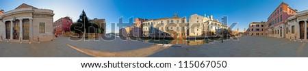 Sidewalk near the Arsenale located at Venice, Italy - stock photo