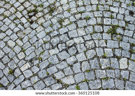 Sidewalk with paving texture background