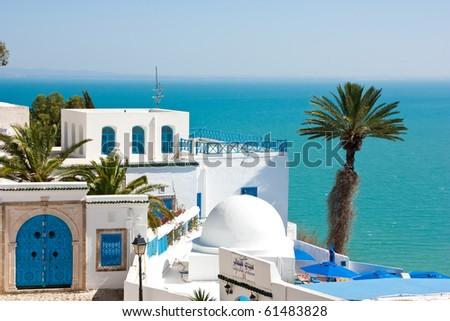 Sidi Bou Said. Tunisia - stock photo