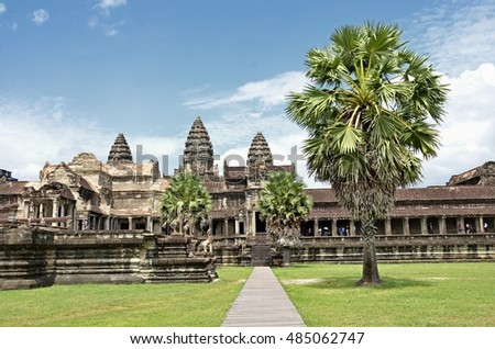 Siem reap, Cambodia. - AUG 12:2016.Angkor Wat Temple ancient kingdom in Southeast Asia.