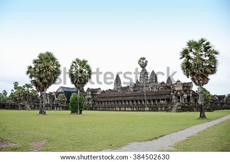 Siem reap, Cambodia. - DEC 21:2012. Angkor Wat Temple ancient kingdom in Southeast Asia.