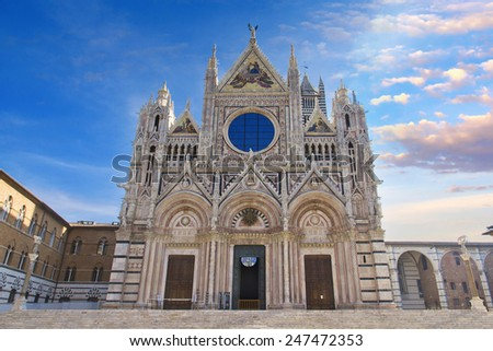 Siena Cathedral, dedicated to the Assumption of the Blessed Virgin Mary. Siena. Italy