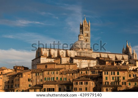 Siena Cathedral, Duomo di Siena in Siena, Italy, Tuscany region.  - stock photo