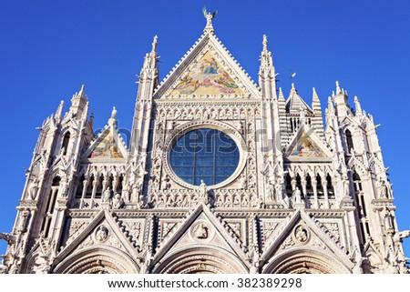 Siena Cathedral in Siena. Siena, Tuscany, Italy - stock photo