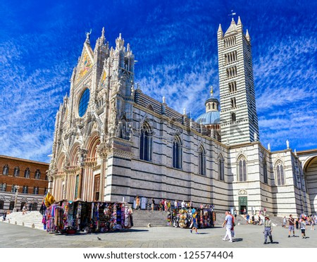 Siena Cathedral, Italy - stock photo
