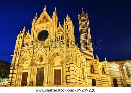 Siena Cathedral Santa Maria, Tuscany, Italy - stock photo
