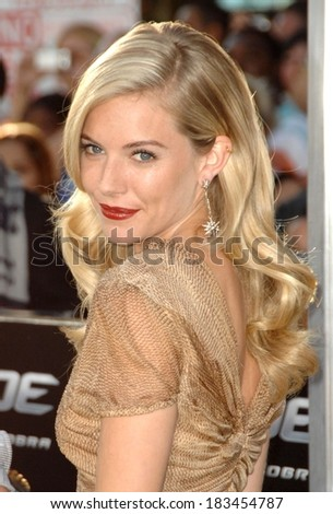 Sienna Miller at Screening of GI JOE THE RISE OF COBRA, Grauman's Chinese Theater, Los Angeles, CA August 6, 2009