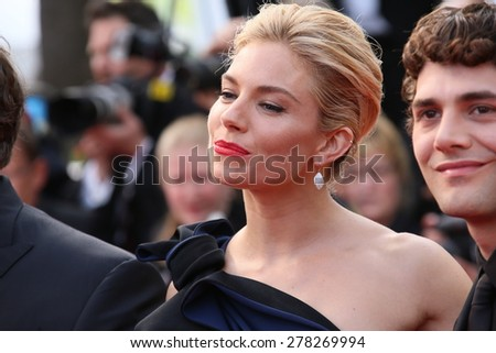Sienna Miller attends the opening ceremony and 'La Tete Haute' premiere during the 68th annual Cannes Film Festival on May 13, 2015 in Cannes, France. - stock photo