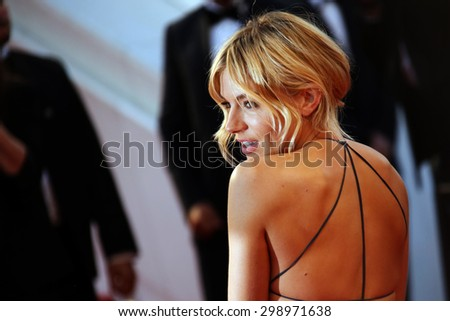 Sienna Miller  attends the premiere of 'The Sea Of Trees' during the 68th annual Cannes Film Festival on May 16, 2015 in Cannes, France. - stock photo