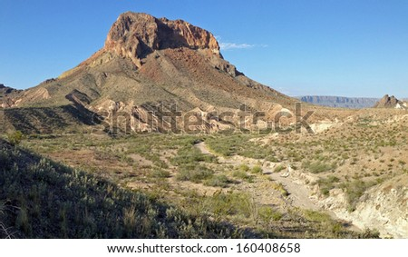 Sierra Castellan in Big Bend National Park, Texas - stock photo