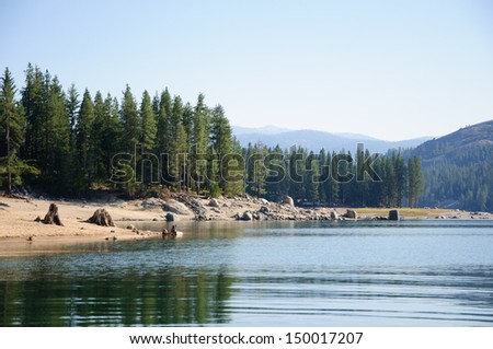 Sierra landscape at Shaver Lake, California