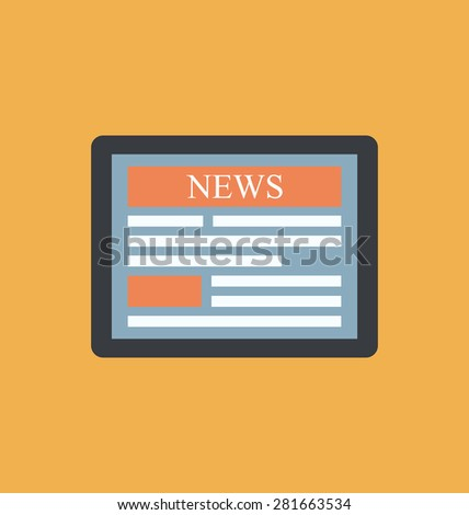 Sigh simple icon newsletter for web and application design - raster - stock photo