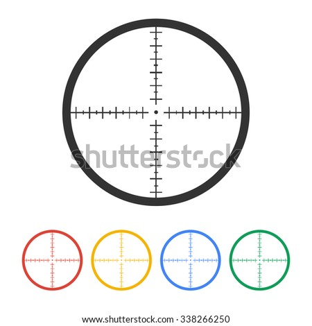 Sight device icon. Flat design style modern illustration.  - stock photo