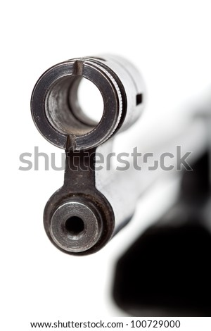 Sight of the gun. Isolated on a white background